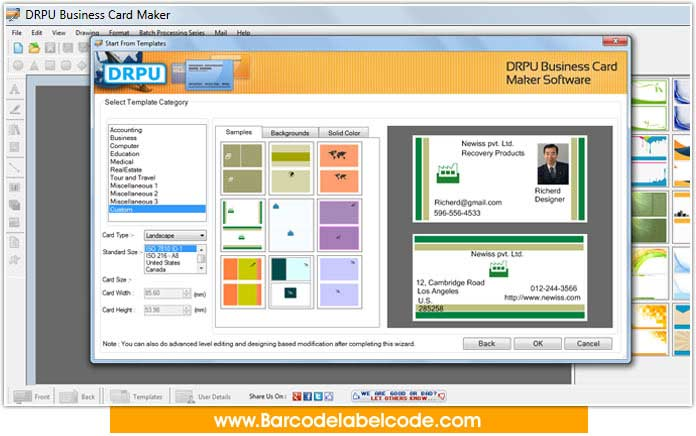 Windows 7 Business Card Designs Software 8.3.0.1 full