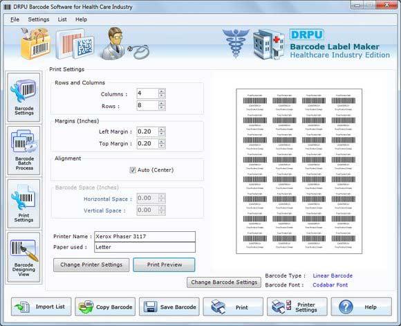 Hospital 2d Barcodes screenshot